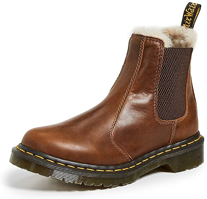 dr martens fur lined chelsea boots